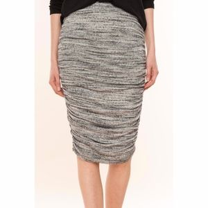 Splendid | Charcoal Heather Black Ruched Skirt